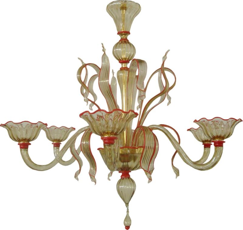 smoked glass chandelier
